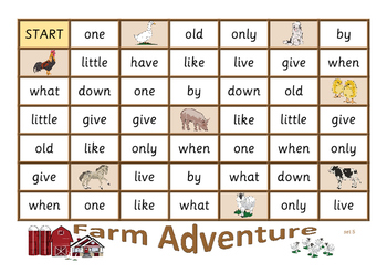 Farm Adventure - sight word game
