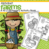 Farm Alphabet - A to Z Activity Book - Vocabulary, Trace and Color