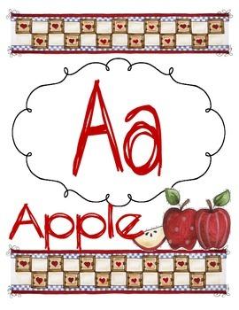 Farm Alphabet Letters