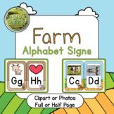 Farm Alphabet Signs