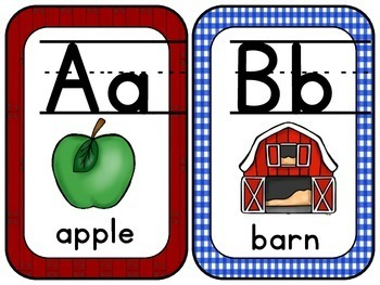 Farm Alphabet with Pictures