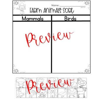 Farm Analogies, Nonfiction, Graphic Organizers and Writing for K-1