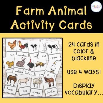Farm Animal Activity Cards