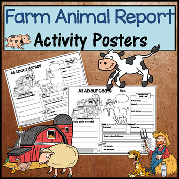Farm Animal Research Activity Posters