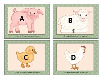 Farm Animal Alphabet Cards