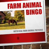 Farm Animal BINGO with Real Life Pictures!