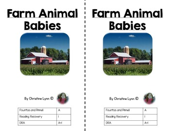 Farm Animal Babies Emergent Reader With Matching Worksheet and Discussion Cards