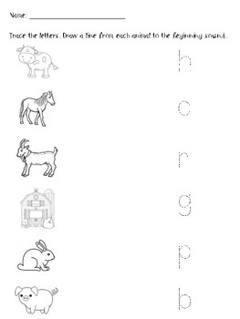 Farm Animal Beginning Sound