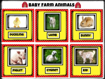 Farm Animal Bingo Cards - Mommies, Daddies and Babies