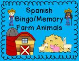 Farm Animal Bingo and Memory in Spanish and English - Bili