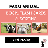 Farm Animal Book, Flash Cards, & Sorting