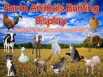 Habitats: Farm Animal Bunting Display