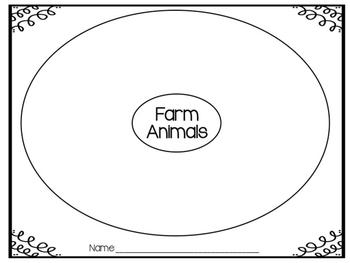 Farm Animal Circle Map