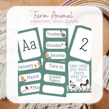 Farm Animal Classroom Decor Bundle