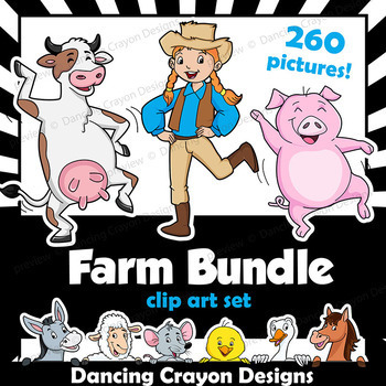 Farm Animal Clip Art BUNDLE