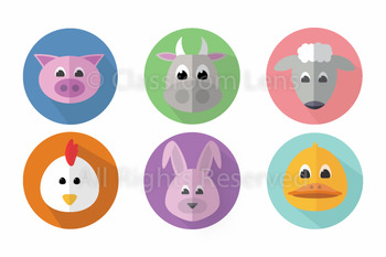Farm Animal Clip Art Set