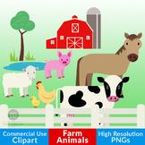 Farm Animal Clipart, Cow Clipart, Horse Clipart, Chicken C