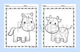 Farm Animal Coloring Pages - Black and White - 8 Designs