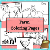Farm Animal Coloring Sheets 24 Coloring Pages