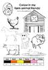 Farm Animal - Colouring in fun