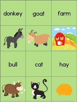 Farm Animal Concentration Memory Game