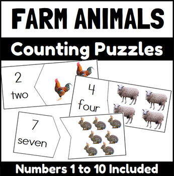Farm Animal Counting Puzzles