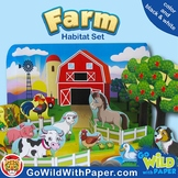 Farm Animal Craft |  Papercraft Animal Habitat | Farm Diorama