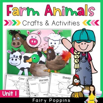 Farm Animal Crafts Activities Unit 1 By Fairy Poppins Tpt