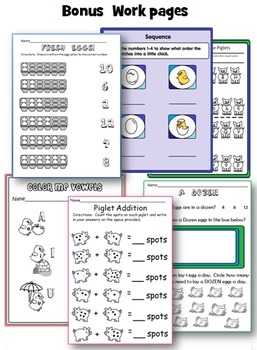 Farm Animals : Crafts, Math and Literacy Activities