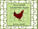 Farm Animal Cut and Paste Puzzles