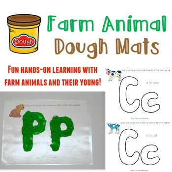 Farm Animal Dough Mats