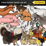 Farm Animals Family clip art-Moms and Babies clipart