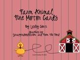 Farm Animal Fine Motor Cards
