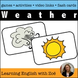 Weather Flash Cards, Activities, and Games for English Lan