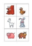 Farm Animal Flash Cards (Baby and Adult names)