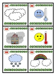 Weather Bingo, Flashcards and Picture Dictionary