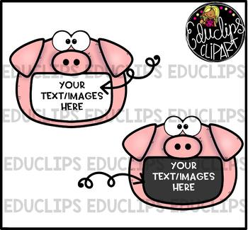 Farm Animal Frames Clip Art Bundle {Educlips Clipart}