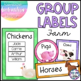 Reading Group Labels | Table Signs | Watercolor Farm Animals