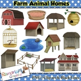 Farm Animal Homes Clip art