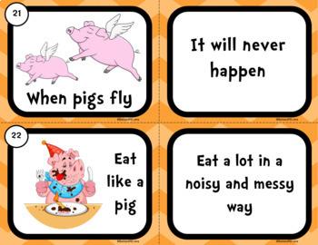 IDIOMS UNIT: Idioms Activity, Idioms, Idiom Task Cards, Literacy Center, Games