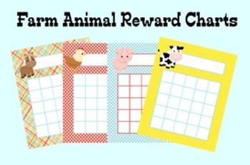 Farm Animal Incentive Reward Charts - 4 Designs