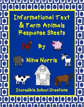 Farm Animal Informational Response Sheets