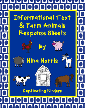 Farm Animal Informational Text Response Sheets