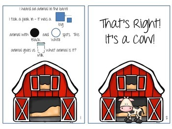 Farm Animal Interactive Book!