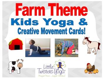 Farm Animal Kids Yoga Sequence--Printable and Electronic Formats!
