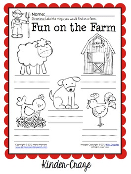 farm animal labeling worksheet great for invented spelling by maria gavin. Black Bedroom Furniture Sets. Home Design Ideas