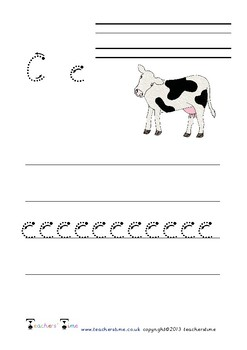 Farm Animal Letter Formation