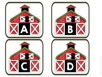 Farm Animal Letter matching