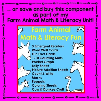 Farm Animal Sight Word Reader Literacy Centers