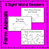 Farm Animal Sight Word Reader Literacy Centers